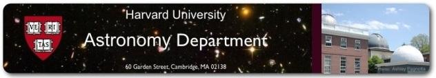 Harvard Astronomy Banner