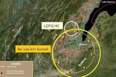 Risultati immagini per future circular collider CERN
