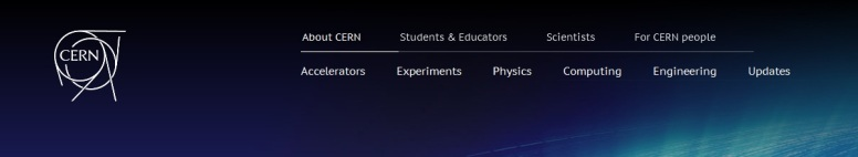 CERN New Masthead