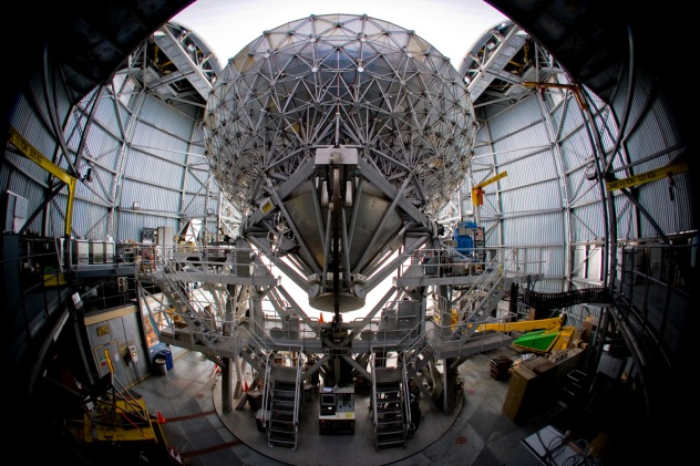 James Clerk Maxwell Telescope interior, Mauna Kea, Hawaii, USA