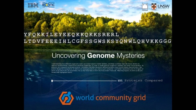 Uncovering Genome Mysteries Screensaver