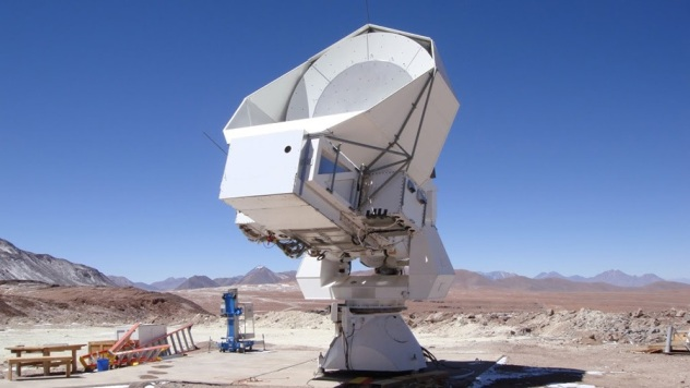 POLARBEAR McGill Telescope located in the Atacama Desert of northern Chile in the Antofagasta Region. The POLARBEAR experiment is mounted on the Huan Tran Telescope (HTT) at the James Ax Observatory in the Chajnantor Science Reserve.