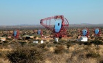 """<a href=""""http://www.mpi-hd.mpg.de/hfm/HESS/"""">H.E.S.S. Čerenkov Telescope Array, located on the Cranz family farm, Göllschau, in Namibia, near the Gamsberg searches for cosmic rays, altitude, 1,800 m (5,900ft).</a>"""
