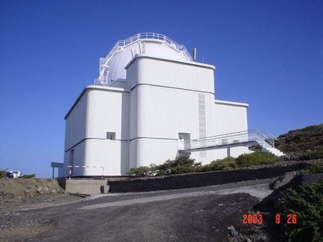 ING Isaac Newton 2.5m telescope at Roque de los Muchachos Observatory on La Palma in the Canary Islands