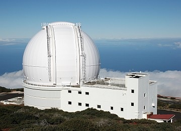 ING  4 meter William Herschel Telescope at Roque de los Muchachos Observatory on La Palma in the Canary Islands