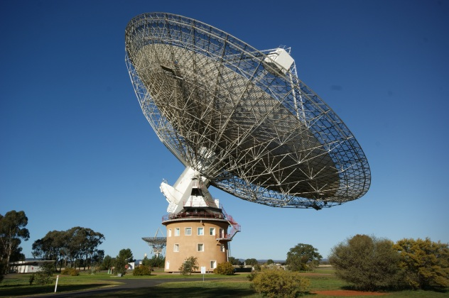 CSIRO/Parkes Observatory, located 20 kilometres north of the town of Parkes, New South Wales, Australia