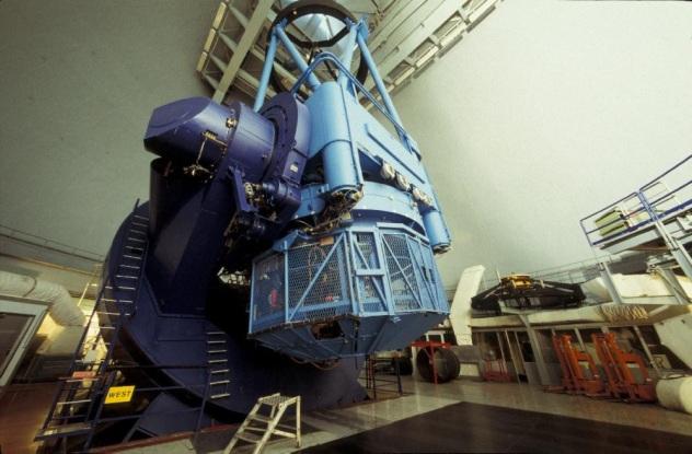 ESO 3.6 meter telescope interior