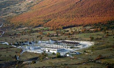 Gran Sasso LABORATORI NAZIONALI del GRAN SASSO, located in the Abruzzo region of central Italy