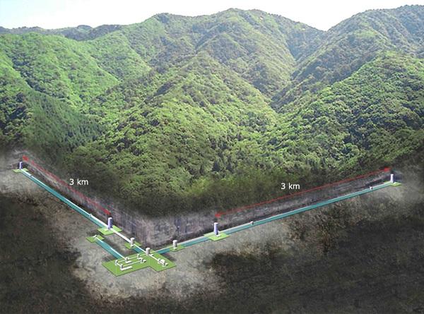 KAGRA, Kamioka mine in Kamioka-cho, Hida-city, Gifu-prefecture, Japan