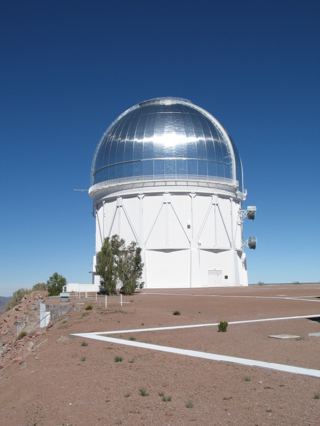 NOAO/CTIO Victor M Blanco 4m Telescope which houses the DECam at Cerro Tololo, Chile