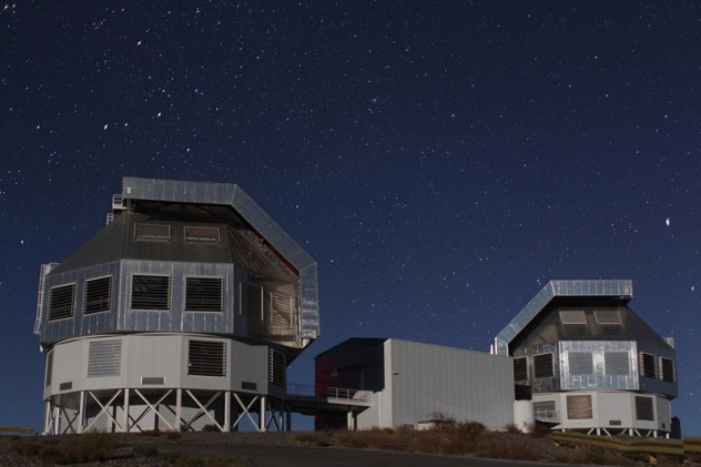 6.5 meter Magellan Telescopes located at Carnegie's Las Campanas Observatory, Chile.