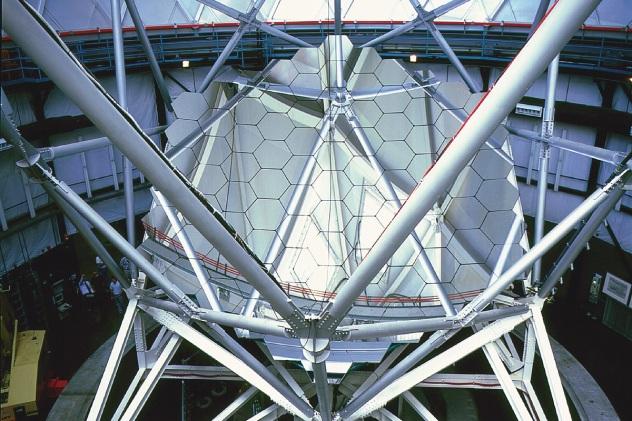 U Texas McDonald Observatory Hobby Eberle 9.1 meter Telescope Interior