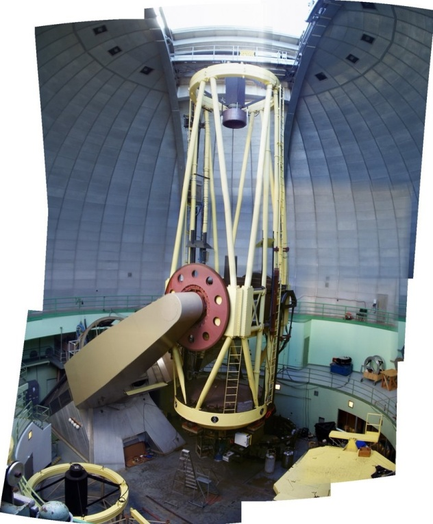 UCO Lick Shane Telescope interior