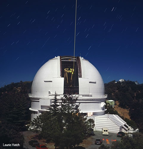 The UCO Lick  C. Donald Shane telescope is a 120-inch (3.0-meter) reflecting telescope located at the Lick Observatory, Mt Hamilton, in San Jose, California