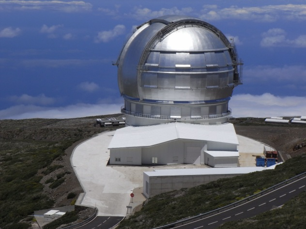 Gran Telescopio  Canarias at the Roque de los Muchachos Observatory on the island of La Palma, in the Canaries, Spain
