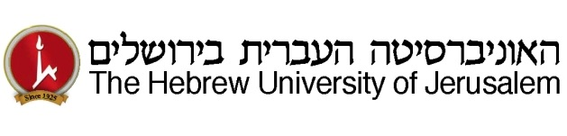 Hebrew U of Jerusalem bloc