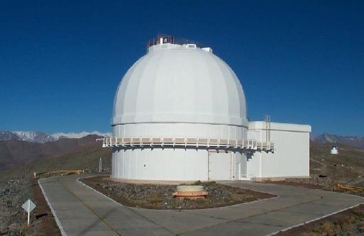 Carnegie Las Campanas Dupont telescope exterior,Atacama Desert, Chile
