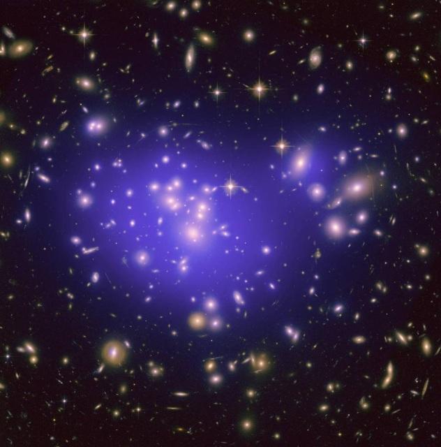 Galaxy Cluster Abell 1689, Credit: NASA, ESA, E. Jullo (JPL), P. Natarajan (Yale), & J.-P. Kneib (LAM, CNRS)