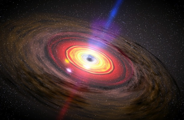 Black hole and its accretion disk. Image credit NASA Dana Berry SkyWorks Digital