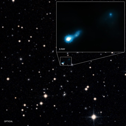 Black Hole Jet B3 0727 409 Glow from the Big Bang Allows Discovery