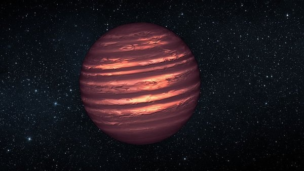 Artist's concept of a Brown dwarf [not quite a] star. NASA/JPL-Caltech