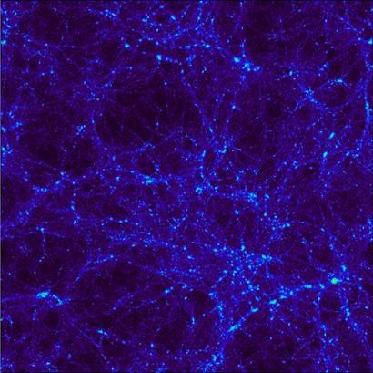 Dark matter halo  Image credit: Virgo consortium / A. Amblard / ESA