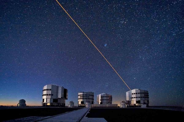 ESO/VLT at Cerro Paranal, Chile, ESO/VLT at Cerro Paranal, with an elevation of 2,635 metres (8,645 ft) above sea level