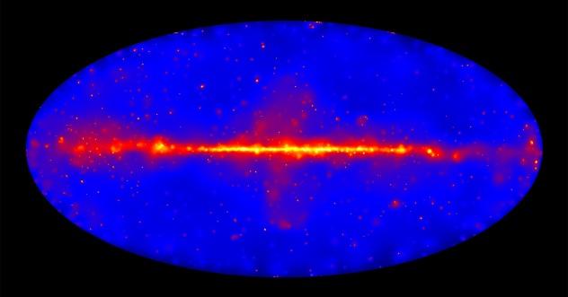 Fermi Lat sky image