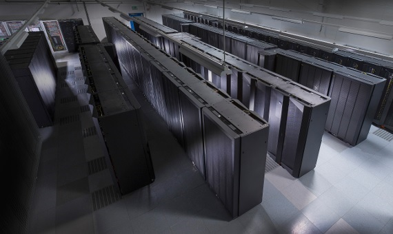 HYDRA supercomputer at the Max Planck Computing and Data Facility in Garching bei München, Germany
