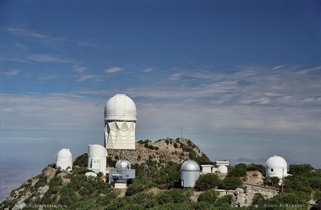 NOAO Kitt Peak National Observatory  on the Tohono O'odham reservation outside Tucson, AZ, USA