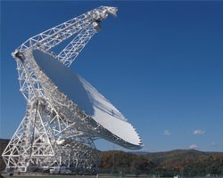 GBO radio telescope, Green Bank, West Virginia, USA