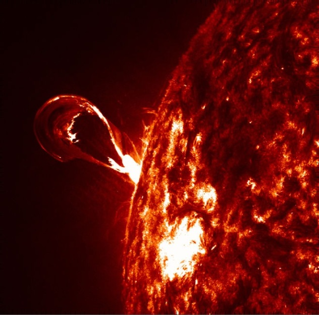 Solar eruption 2012 by NASA's Solar Dynamic Observatory SDO