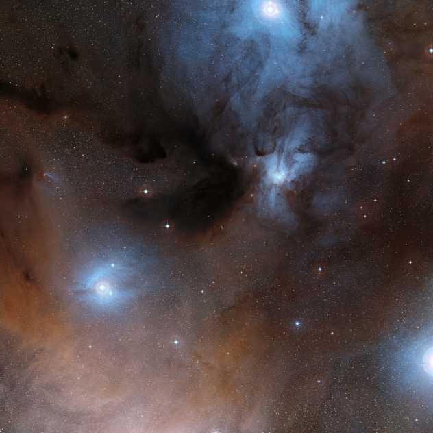 The Rho Ophiuchi star formation region in the constellation of Ophiuchus.