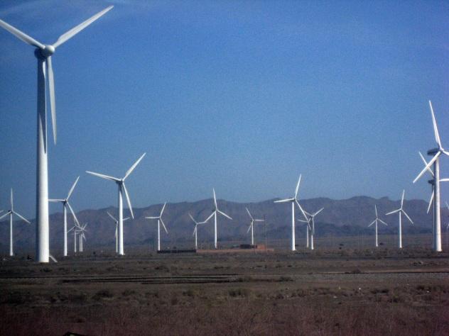 Wind farm in Xinjiang, China