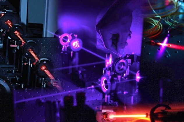 A quantum optics setup. Image credit Matthew Broome
