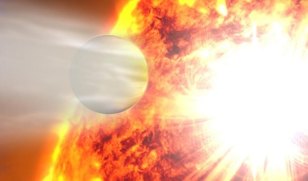 An artist's rendering shows the planet HD 20782, the most eccentric planet ever known. Credit NASA