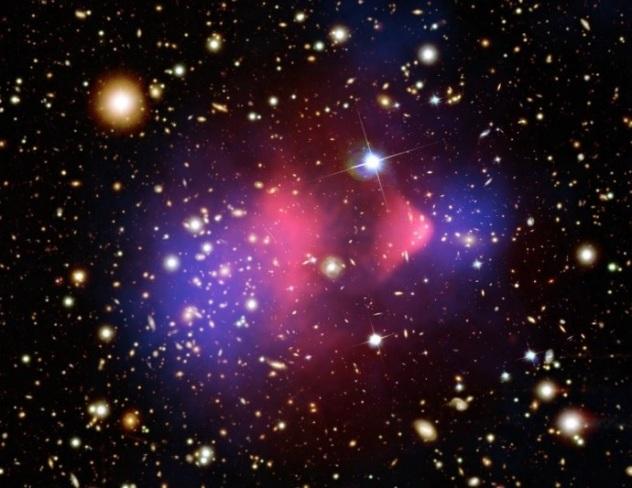 Bullet Cluster NASA Chandra NASA ESA Hubble