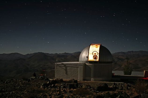 ESO Belgian robotic Trappist National Telescope at Cerro La Silla, Chile