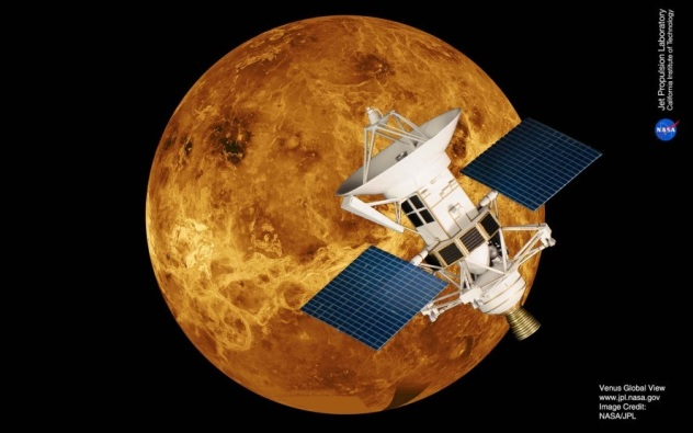 Magellan mission to Venus spacecraft