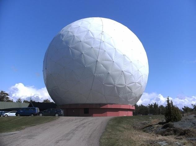 Onsala 20 meter telescope exterior Sweden