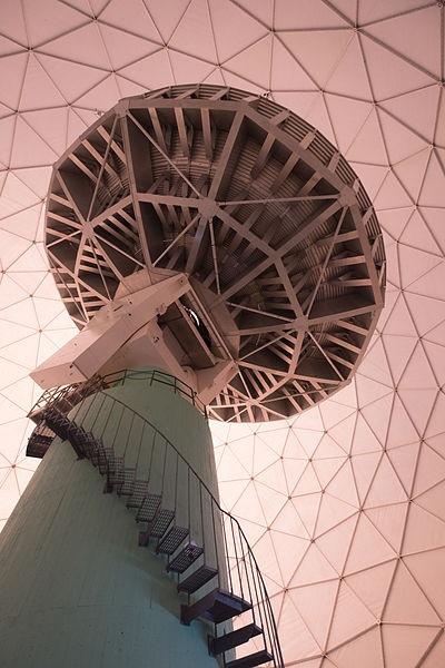 Onsala Twenty meter telescope interior  Sweden