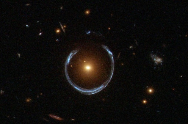 Einstein ring. NASA/ESA Hubble