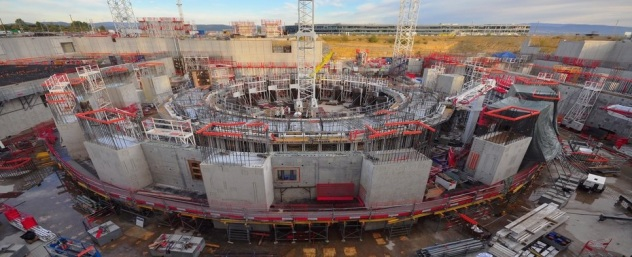 Iter experimental tokamak nuclear fusion reactor that is being built next to the Cadarache facility in Saint Paul les-Durance south of France