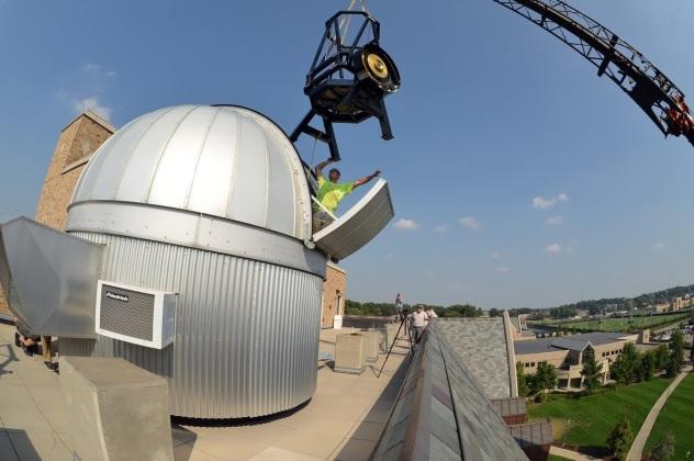 Notre Dame Rooftop Sarah L Krizmanich  Telescope