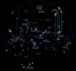 Supercluster map Image via AtlasoftheUniverse.com II