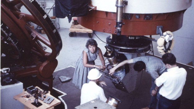 Astronomer Vera Rubin at the Lowell Observatory in 1965. (The ...