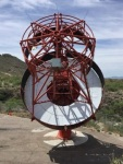 """<a href=""""https://portal.cta-observatory.org/Pages/Home.aspx""""> A novel gamma ray telescope under construction on Mount Hopkins, Arizona. A large project known as the Čerenkov Telescope Array composed of hundreds of similar telescopes to be situated in the Canary Islands and Chile at</a>,  <a href=""""https://www.eso.org/public/teles-instr/paranal-observatory/"""">ESO Cerro Paranal site The telescope on Mount Hopkins will be fitted with a prototype high-speed camera, assembled at the</a>.  <a href=""""http://www.wisc.edu/"""">University of Wisconsin–Madison and capable of taking pictures at a billion frames per second. Credit: VladimirVassiliev.</a>"""