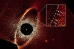 """<a href=""""http://www.berkeley.edu/index.html"""">Example of direct imaging-This false-color composite image traces the motion of the planet Fomalhaut b, a world captured by direct imaging. Credit: NASA, ESA, and P. Kalas, University of California-Berkeley and SETIInstitute.</a>"""